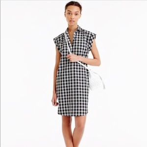 J Crew Gingham Short-sleeve Shirt-Dress M